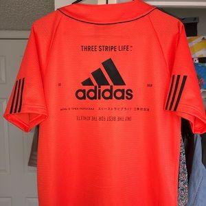 Baseball Style Adidas shirt.